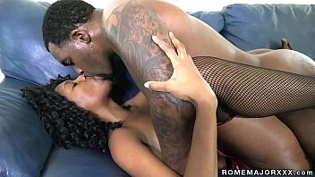Xxx salami Ebony slut brandi foxx takes all of rome major