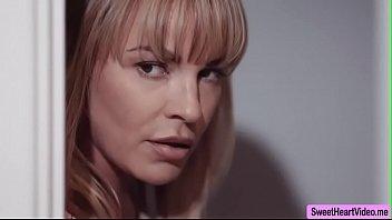 MILF Dana fucks her ebony stepdaughter