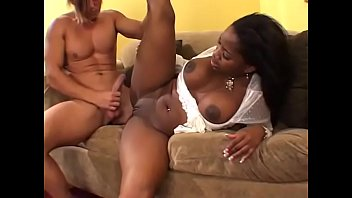 Ebony honey Lori Alexia sucks white dude's pole in the car then they go home to fuck