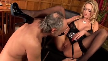 Blonde With Big Boobs Paige Ashley Sucks And Fucks In Slinky Black Lingerie