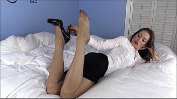 Your Sexy Secretary Comes Home For A Hot Fuck