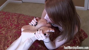 Toes lesbian Steamy foot worship fetish fun