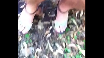 Only with G-String and Stilettos in Public Park