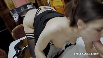 Private.com - Hot Horny Maid Henessy Fucks Rock Hard Dick! thumbnail