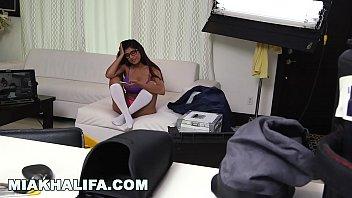 MIA KHALIFA - Getting extra dick from J-Mac behind the scene