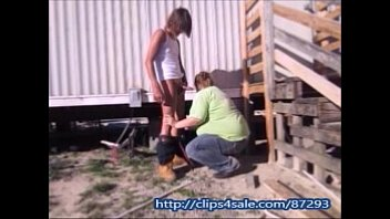 Wife Sucks & Fuck Yardworker Outdoors To Cover Bill Taking Pussy Creampie