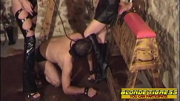 2 amateur dominas and their anal slave