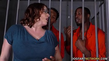 Busty Maggie Green Has Interracial Threesome In Jail preview image