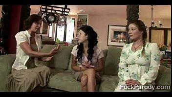 Religious family demonstrate their faith to a lucky businessman 4 min