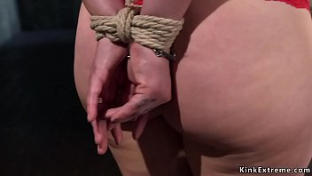 Big tits redhead hogtie and anal fuck