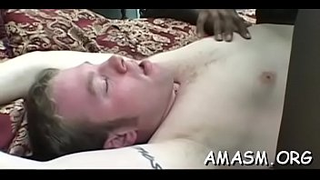 Superb home porn with busty woman facsitting during the time that jerking off cock