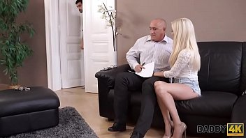 DADDY4K. Blonde cutie wants to have hot sex with experience old man