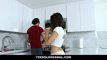 TeensLoveAnal - Brunette Teen Fucked In The Ass