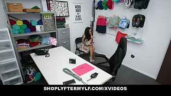 Milf (Tia Cyrus) Caught Stealing Underwear Gags On Security&
