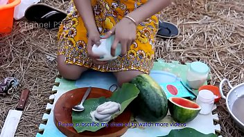 Cooking asian Woow beautiful girls cooking water snake with watermelon hd