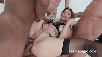 Squirt in my Mouth 4on1 with Adreena Winters   Messy Cumshot & Swallow