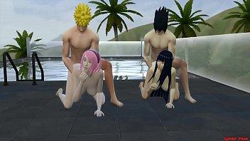 15259 Intercambio de Esposas Con Hinata y Sakura Día de Piscina Naruto Hentai preview