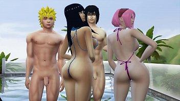 Naruto animated porn Intercambio de esposas con hinata y sakura día de piscina naruto hentai