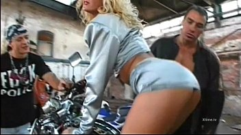 Young blonde slut fucked with double penetration