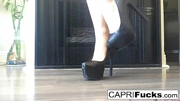 Capri in her high heels