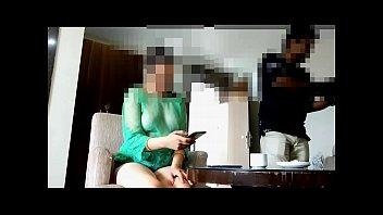 Wifes flashing boobs Pankhuri teasing waiter in hotel room
