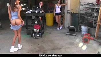 Sex for cash turns shy girl into a slut 4