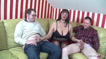 ▶▶ Big Natural Tits Mother Teach Step Son and Friend to Fuck in Threesome ◀◀