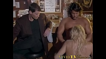 Hot blonde DP fucked in vintage group session