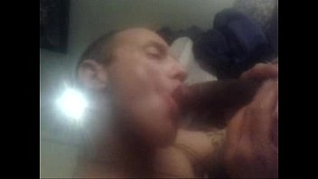 black dad gets blowjob  from sons white best friend