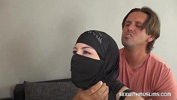 Muslim woman pleases a friend