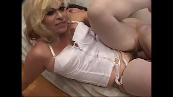 Blonde Rose  sucks a cock before riding