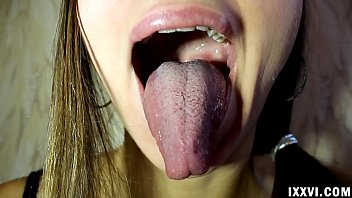 Tongue 2 box adult Fetish tongue ananta shakti and licking fingers