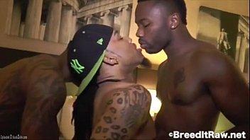 Nasty Raw Threesome with Big Black Cocks BBC 2