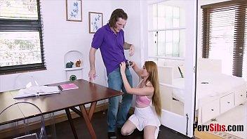 Naughty sister bribes bro to finish her homework