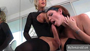 TS Nikki let dude cum in her natural titties