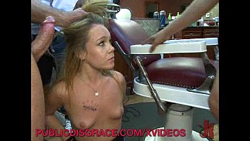 Extream sex sites Gangbang in a barber shop