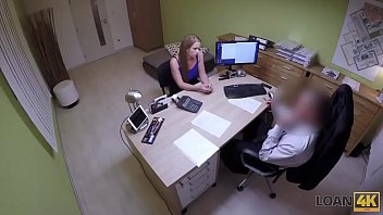 Loan4K. Blonde Comes To Loan Agency And Has Wild Sex For Money