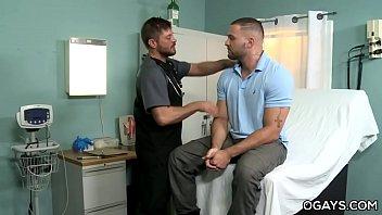 Hairy gay men fuck in the hospital