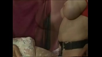 Redhaired busty mistress Mae Victoria forbearingly allows dude to tickle the pickle while getting anal reverse incentive with big strap-on
