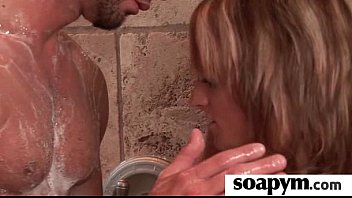 Soapy Massage End With a Big Cumshot 15