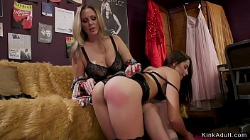 Hairy pussy lesbian spanked