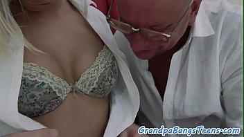 European babe dickriding grandpa in cowgirl porno izle