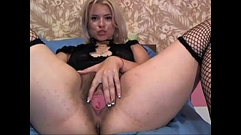 Big Ass Busty Blonde Fingers Her Hairy Pussy - WetSlutCams.com