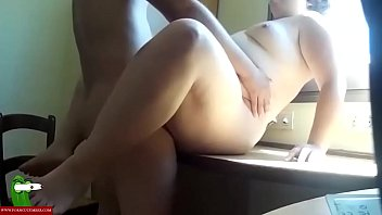 The fat girl eats his ass and fucks with him. SAN380