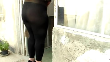 See trough thong milf leggins big ass