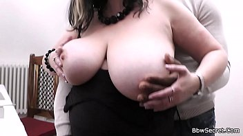 Black man loves her huge melons and fat pussy