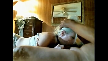 hot blonde wife sucks husbands cock and swallows cum