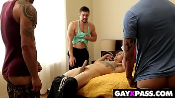 VERY HOT GAY FOURSOME ACTION