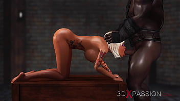 3dxpassion.com. Schoolgirl get fucked hard by black man in the dungeon