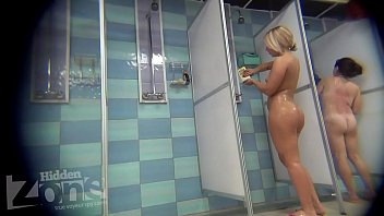 blonde shower peeping image